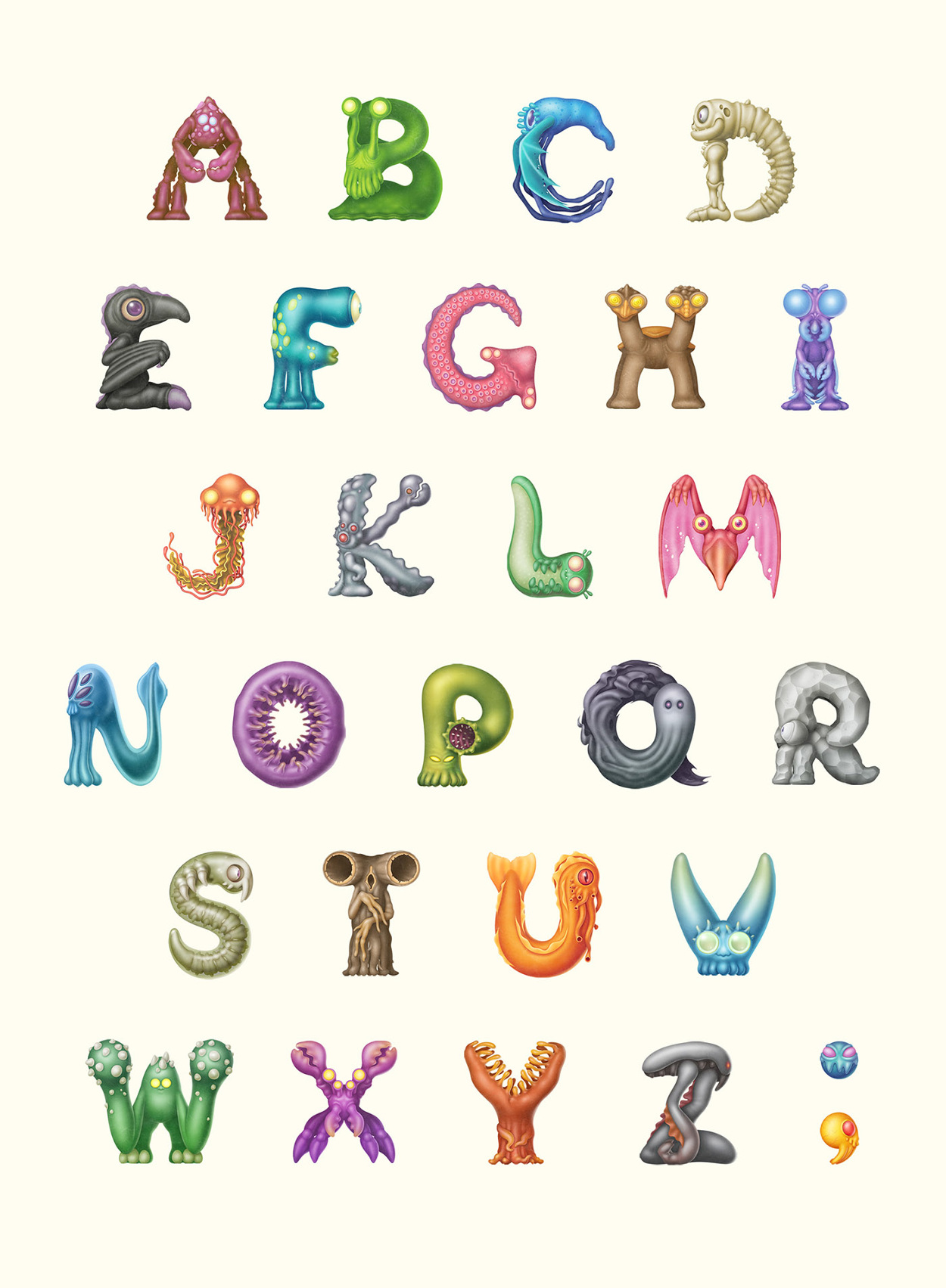 monster alphabet mark verhaagen